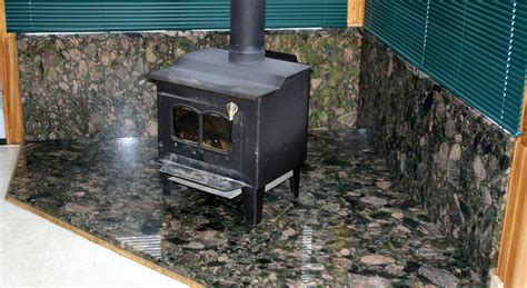 Fireplace Sill by Green Marinace Granite Wood Stove Base With Wall And