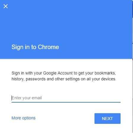 chrome sign in how to sync chrome browser across different devices