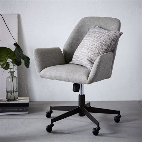 pink office chair australia aluna upholstered office chair west elm au