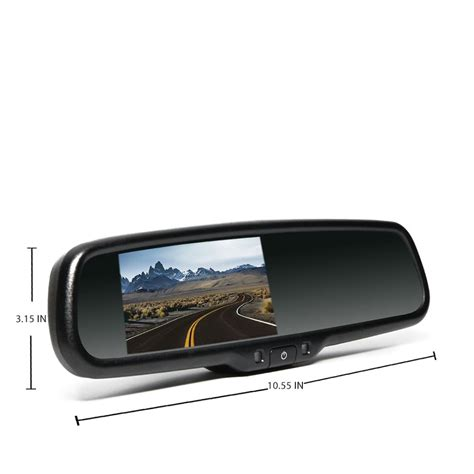 rear view rear view safety rear view mirror with monitor 4 3
