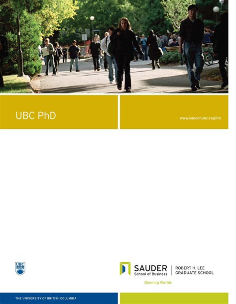 Ubc Mba Login by Ubc Phd In Business Administration By Ubc Sauder School Of