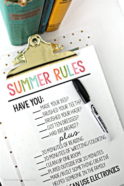 30 Handmade Days - printable summer thirty handmade days