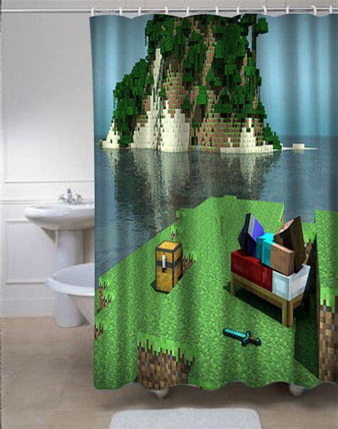 minecraft shower curtain minecraft mine craft personalized custom from