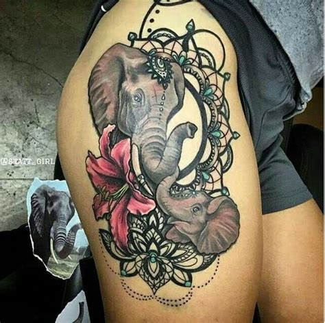elephant thigh tattoo 39 elephant tattoos collection