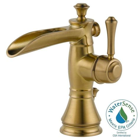 channel spout bathroom faucet delta cassidy single hole single handle open channel spout