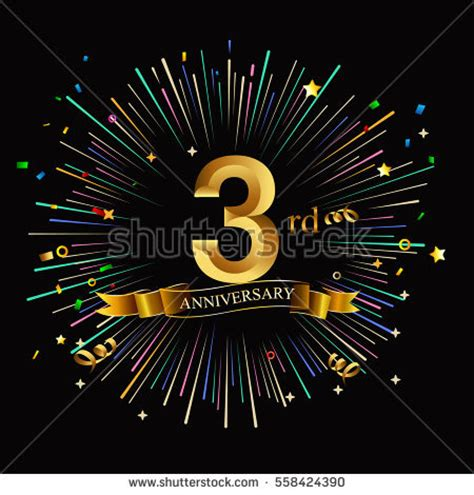 3rd anniversary images 3rd anniversary stock images royalty free images vectors