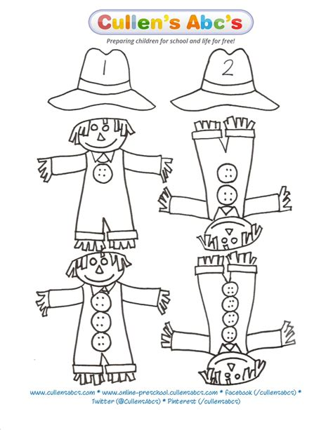 scarecrow pattern for kindergarten kindergarten pattern for scarecrow related keywords