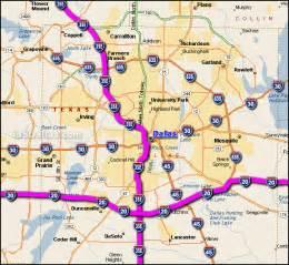 interstate 20 dallas map
