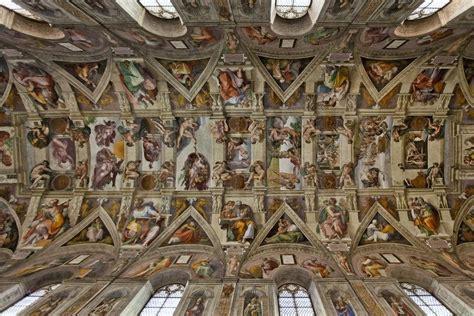 La Chapelle Sixtine Plafond by 10mai 1508 Michel Ange D 233 Bute Le Plafond De La Chapelle