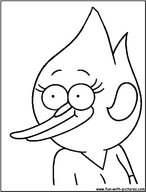 printable coloring pages regular show margret from regular show colouring pages