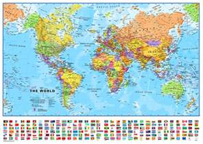World Map Picture by World Map Political Maps Int 136 X 100cm Plastified Gift