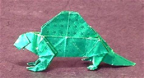 Origami Dimetrodon - origami library dimetrodon r j lang