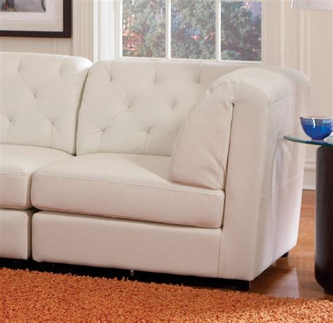 Corner Chairs Living Room Modern Leather Sectional Living Room Corner Armless Chair Ottoman Va Furniture Stores