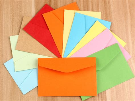 Envelopes From Paper - aliexpress buy 11 8 8 cm random delivery coloured