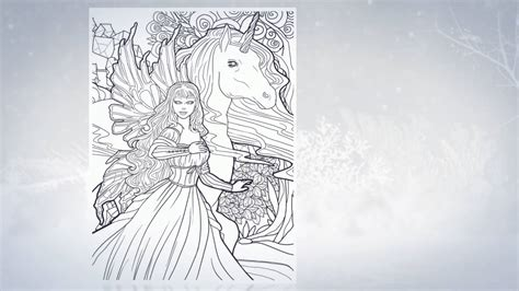 magical unicorns  fairies adult coloring book trailer