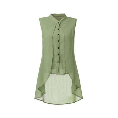 Quero Tunik sleeveless v neck button color irregular hem