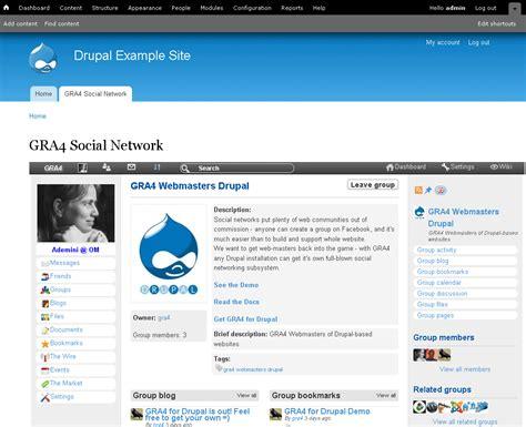 theme drupal social network gra4 social network for drupal drupal org