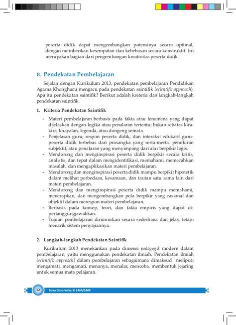 Buku Pendekatan Ilmiah Dalam Implementasi Kurikulum 2013 Abdul M Pr bg khonghucu sma kelas xi kurikulum 2013 blogerkupang