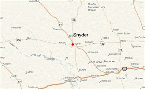 snyder texas map snyder location guide