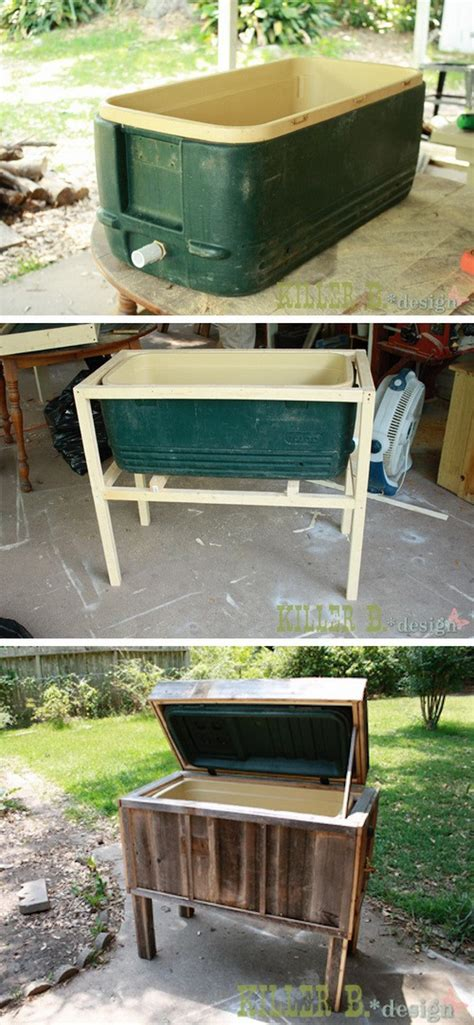 backyard ice chest 20 diy ideas to reuse old furniture diy crafts ideas