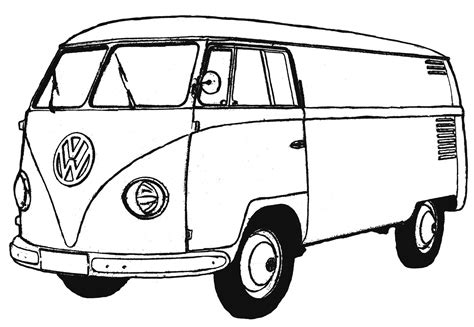 printable images of van van 24 transportation printable coloring pages