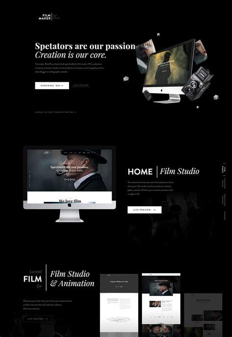 20 Coolest Movie Templates Web Template Customization Filmmaker Website Template