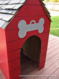 dog house cardboard decorations refrigerator sized cardboard box dog house good photo op for kids in the
