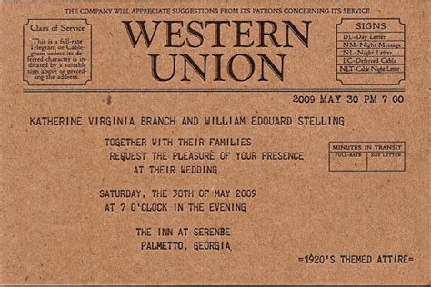 tutorial carding western union ed ginny invitations once wed