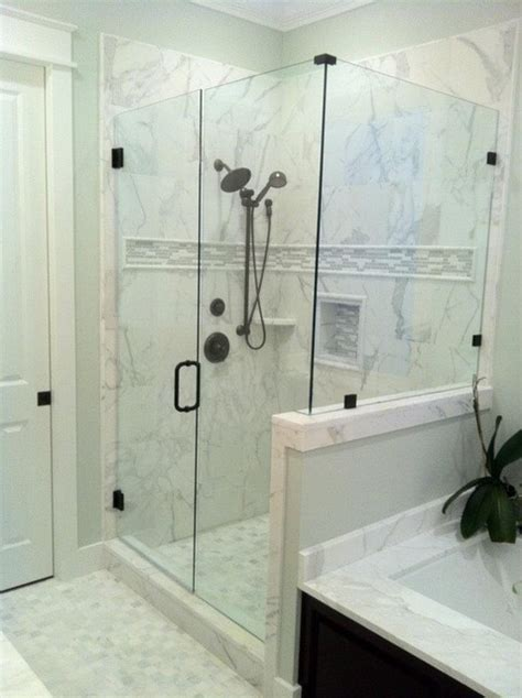 Cr Home Design K B Construction Resources calacatta gold marble shower contemporary atlanta by