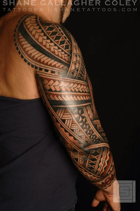polynesian tattoo arm designs shane tattoos polynesian sleeve