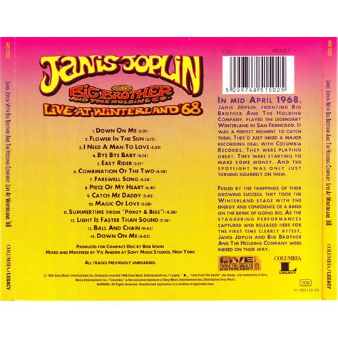 i bid live live at winterland 68 janis joplin big the