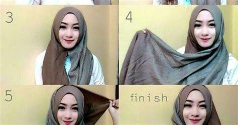 tutorial hijab pashmina satin tanpa ninja tutorial hijab modern tanpa ninja terbaru 2016