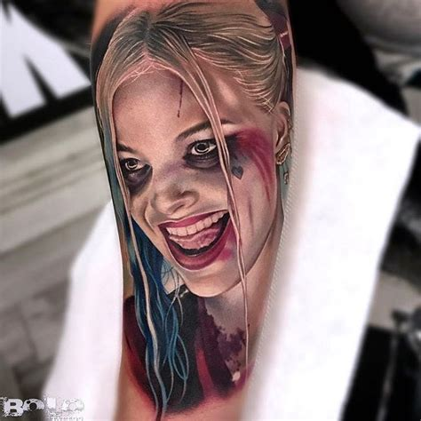 pinterest tattoo portrait realistic harley quinn portrait pinterest best