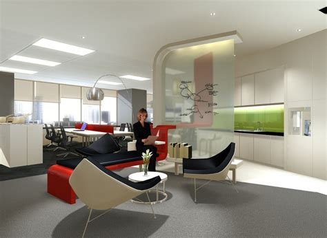 design galleries office pantry telecommunication company singapore by adella alda at
