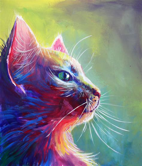 colorful painting colorful cat 1 by san t deviantart on deviantart colorful