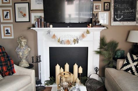 tassel garland on fireplace mantle decoist