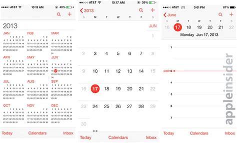 calendar layout ios inside ios 7 calendar app comes with sterilized ui few