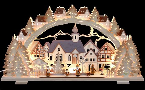 candle arch christmas time natural wood exclusive