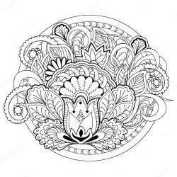 doodle flowers herb mandalas stock vector 169 sliplee 100265926