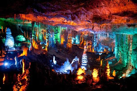 Cave Lighting by Sorek Stalactites Colorful Illumination Xcitefun Net