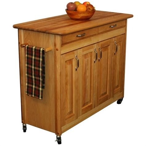 catskill craftsmen kitchen island catskill craftsmen 44 inch butcher block kitchen island 54220
