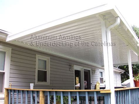 metal deck awnings aluminum awnings of the carolinas aluminum patio cover
