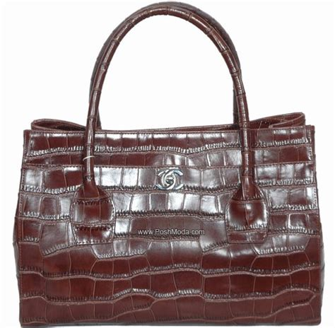 Introducing Chanel Faux Croc Purse by Products Replica Best Designer Replica Handbags