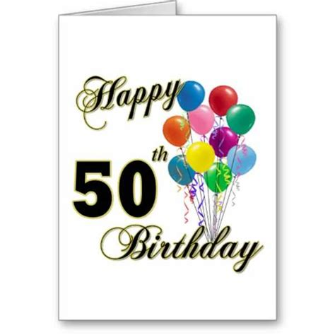 Happy 50th Birthday Card Happy 50th Birthday Cards Pictures Reference
