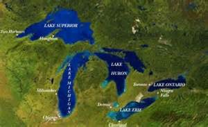 great lakes map free printable maps