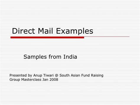 Direct Mail Exles Direct Mail Templates