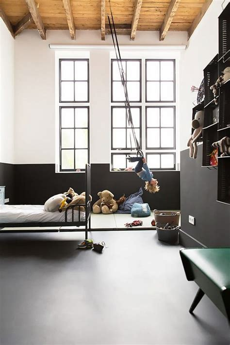 cheerful indoor swing  kids space home design