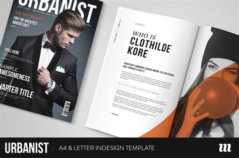 magazine cover template indesign urbanist magazine indesign template magazine templates