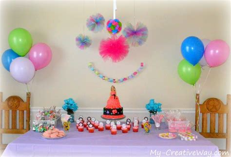 home design decoration for birthday at home