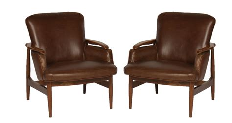 modern club furniture pair of mid century modern leather club chairs modernism
